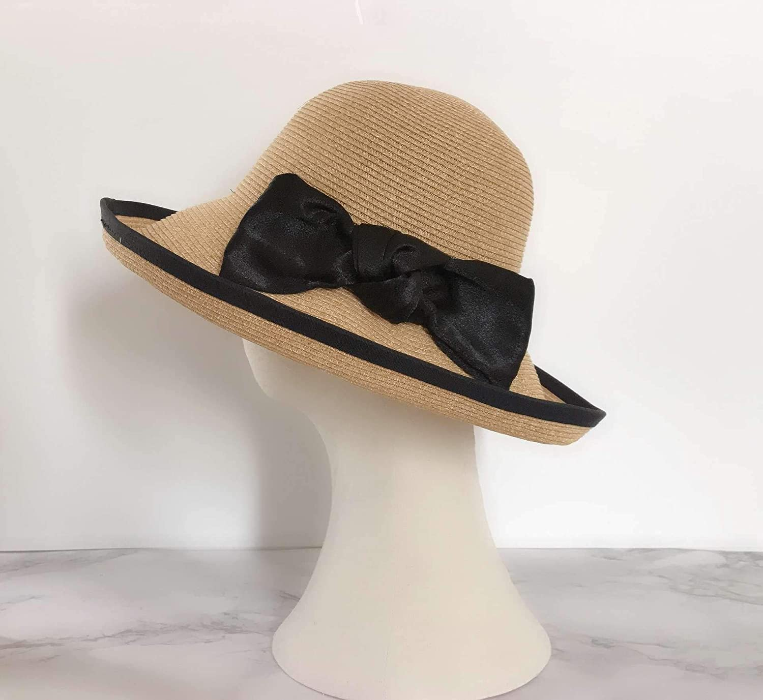 Nonebrand Visors Collapsible,Woman Spring and Summer Straw Hat Fisherman Cap Sun Protection Sunhat Sun Hat Fashion