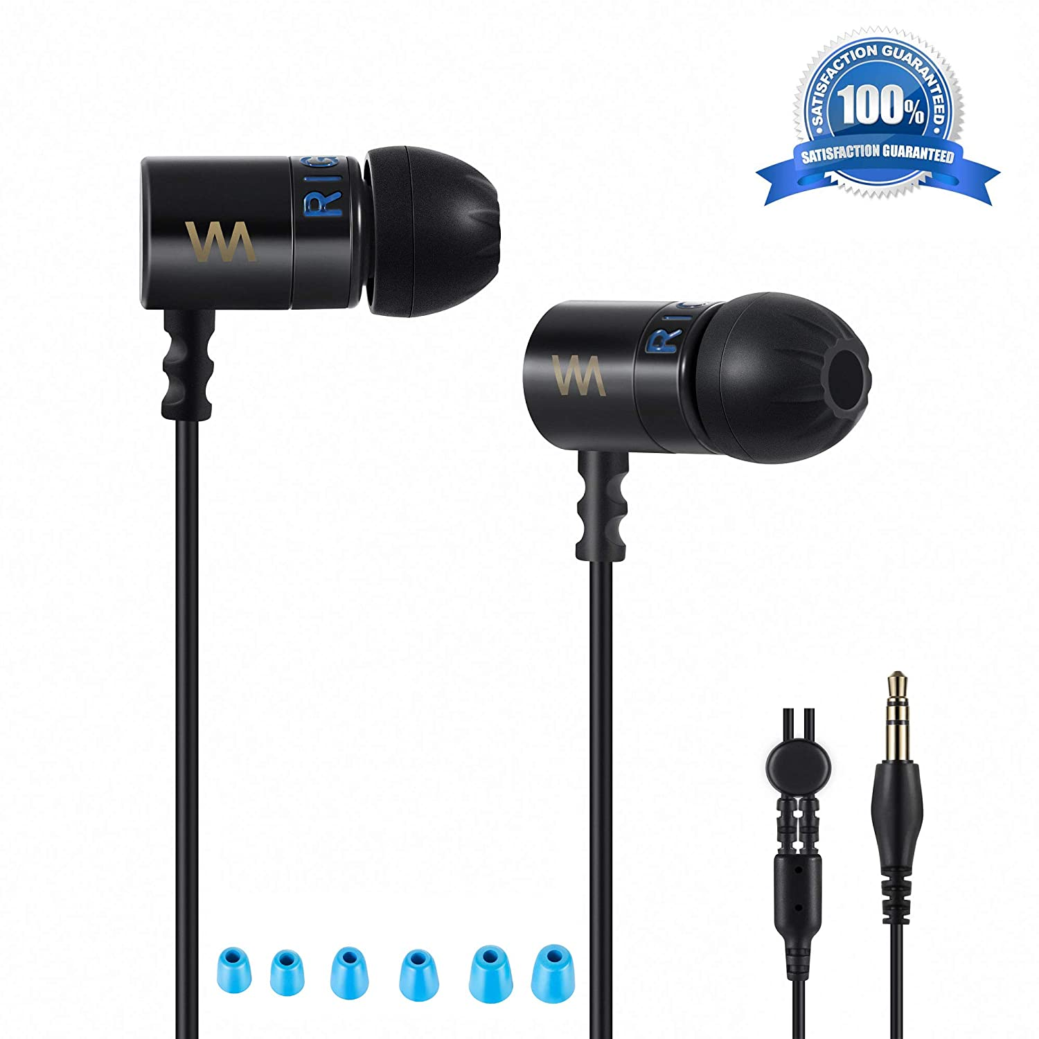 Headphones earbuds wired earphones Bass and Treble mids Quality,Strong noise cancelling Qualities, The Absolute IEM, Ultra Clear stereo Dynamic Dual Drivers
