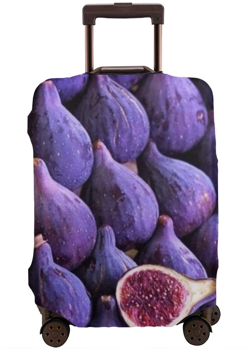 Travel Luggage Cover Purple Figs Anti-Scratch Baggage Suitcase Protector Cover Fits 18-32 Inch