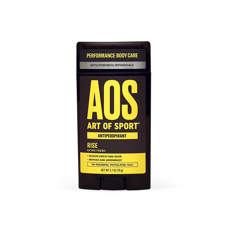 Art of Sport Men's Antiperspirant Deodorant - Rise Scent - Antiperspirant for Men with Natural Botanicals Matcha and Arrowroot - Energizing Citrus Fragrance - Made for Athletes - 2.7oz