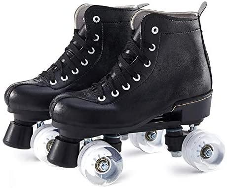 Tenflyer Roller Skates, Skates, Roller Skates for Women/Men Skate Gear Soft Boot Roller Skate Retro High Top Design Indoor Outdoor Roller Skates with Light