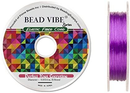 Elastic Fiber Cord, BeadVibe Series Elastic Fiber Cord, Black 0.8mm Diameter 32ft/Pack (3packs Bundle), Save $2