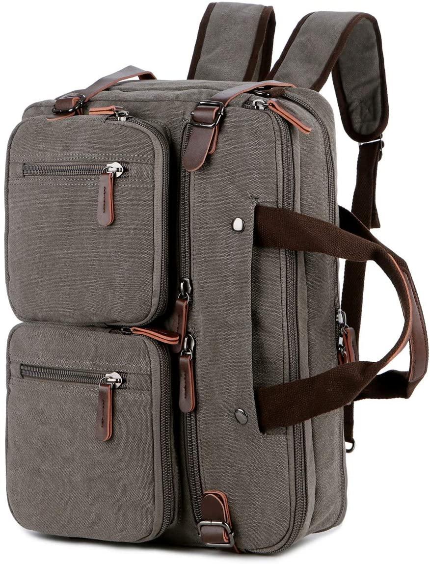 BAOSHA Convertible Briefcase Backpack 17 Inch Laptop Bag Case Business Briefcase HB-22 (Grey)