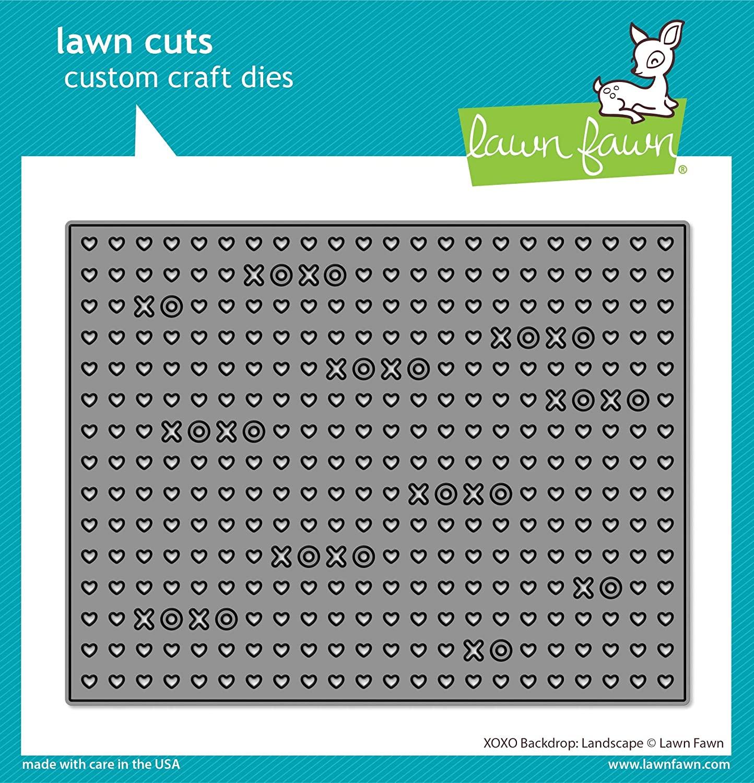 Lawn Fawn XOXO Backdrop: Landscape Custom Craft Die (LF2178)