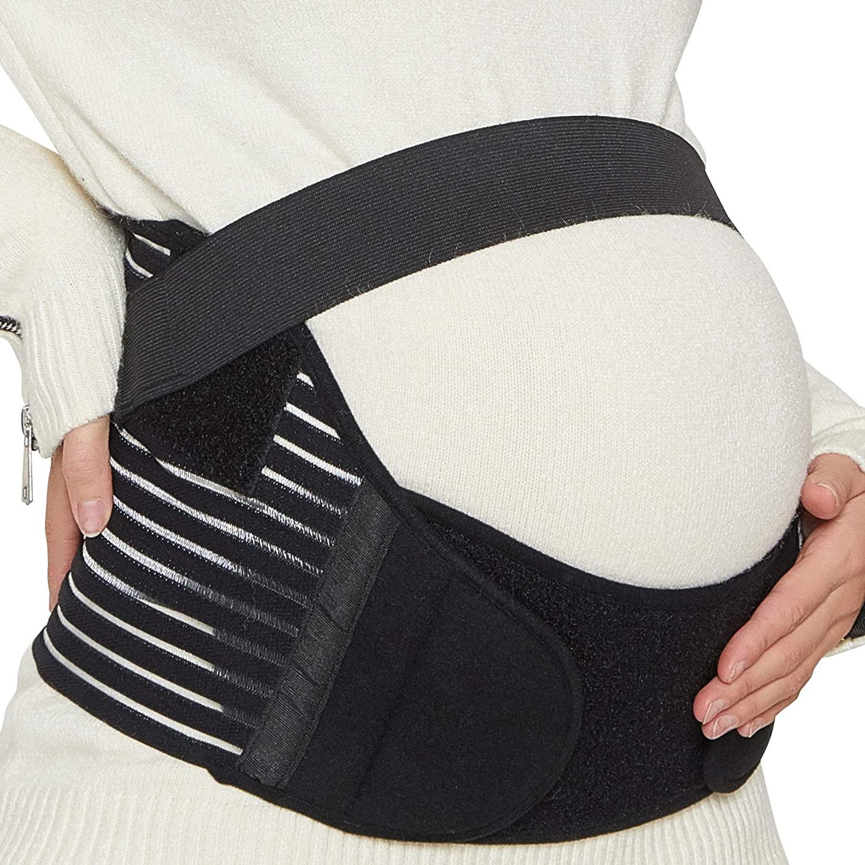 NEOtech Care Maternity Belt - Pregnancy Support - Waist/Back/Abdomen Band, Belly Brace (Black, Size XL)