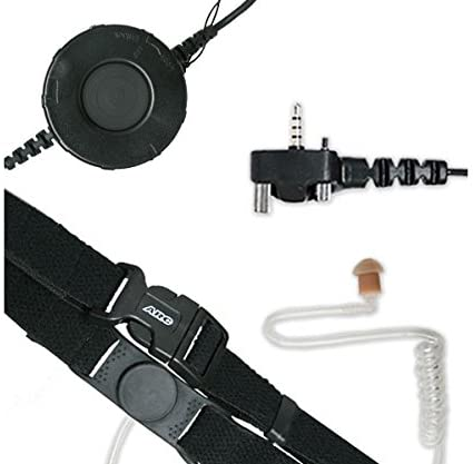 ARC T25014 Neck Strap Tactical Throat Mic for Vertex Standard VX & EVX Series Two Way Radios