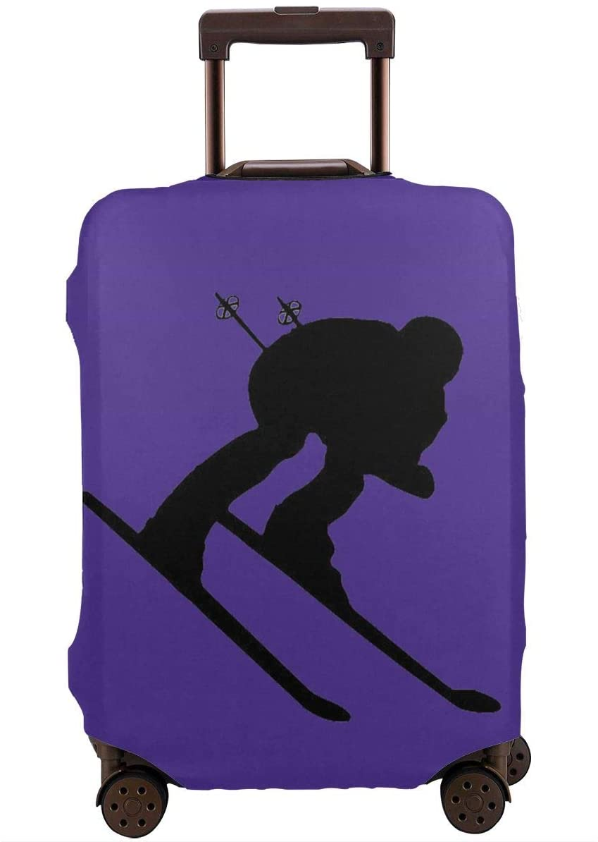 Travel Luggage Cover Snow Skier Anti-Scratch Baggage Suitcase Protector Cover Fits 18-32 Inch