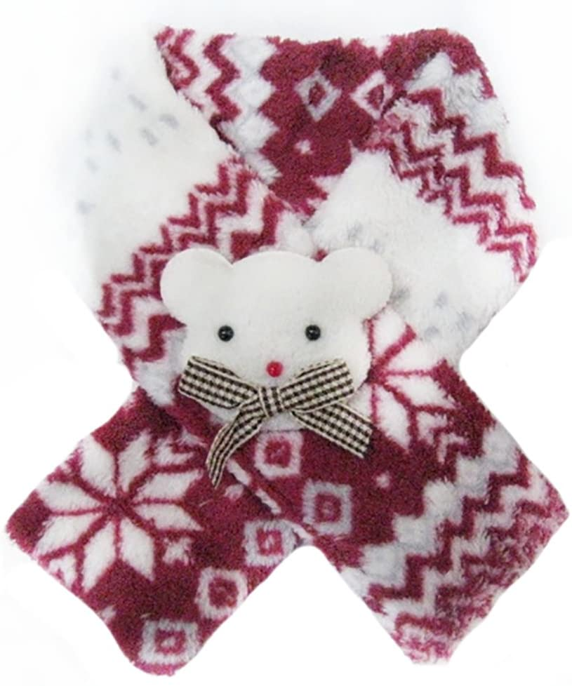 MaruPet Holiday Red-and-White Santa Scarf - Pet Accessory for Teddy, Pug, Chihuahua, Shih Tzu, Yorkshire Terriers, Papillon Not Suitable for Big Dogs