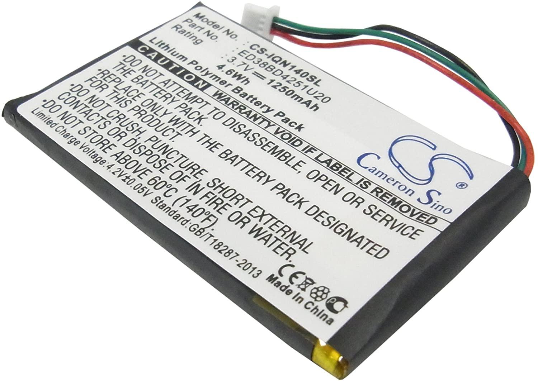 Replacement GPS Navigation Battery Part No.ED38BD4251U20 for Garmin Nuvi 1400,Nuvi 1450,Nuvi 1450T,Nuvi 1490LMT,Nuvi 1490T,Nuvi 1490T Pro,1250mAh lipo