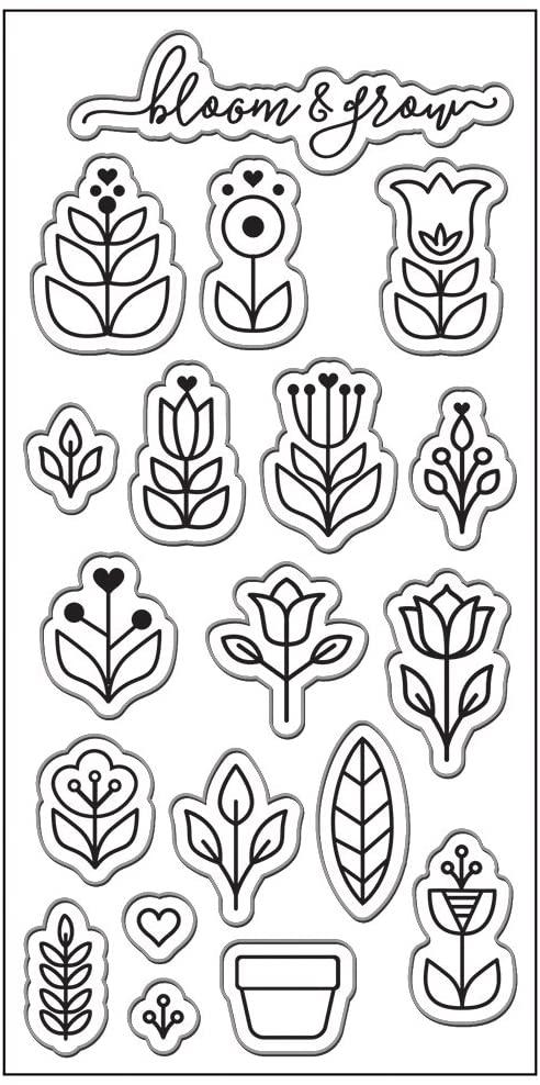 Fiskars Lia Griffith 3x6 Inch Clear Stamps, Scandinavian Garden