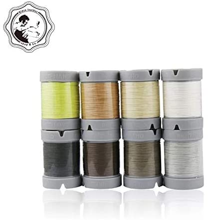 Since Leather 100% Linen Hand Sewing Thread 48 Colors Available DIY leathercraft (M30/0.35MM/150M/Spool) (M30/ Black)