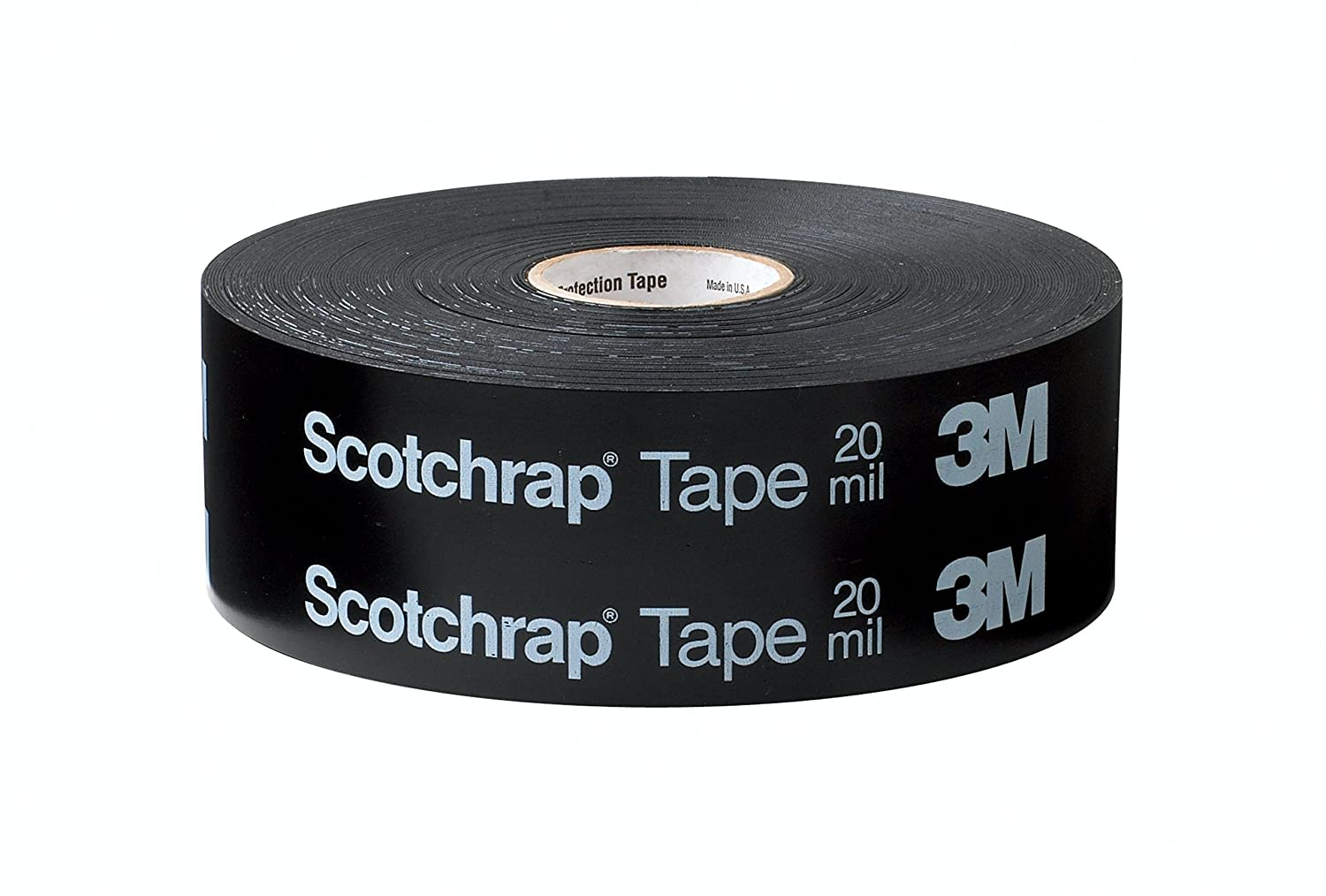 3M Scotchrap Vinyl Corrosion Protection Tape 51, Printed, 1 in x 100 ft, Black
