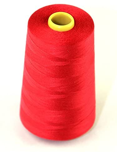 Budget 120s Polyester Sewing Thread Cone 4500m Crimson - each