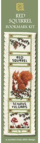 Textile Heritage Red Squirrel Counted Cross Stitch Bookmark Kit
