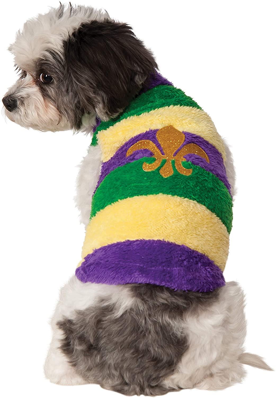 Rubies Mardi Gras Soft Pet Sweater