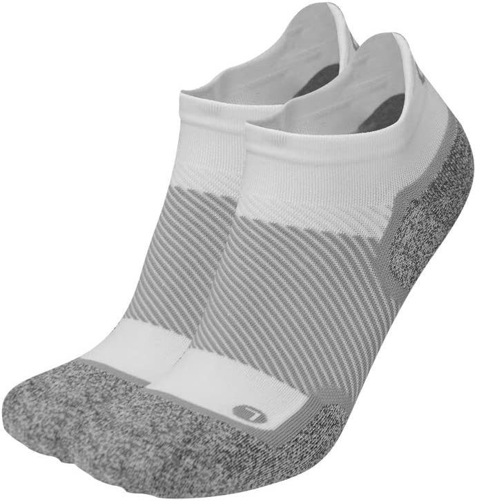 OrthoSleeve WC4 Wellness Socks for Diabetes,Edema,Neuropathy & Circulation (Noshow, Small, White, 1 Pair)