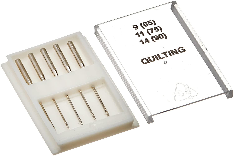 Dritz 3071 Quilting Machine Needles, Size 9, 11, 14 (5-Count)