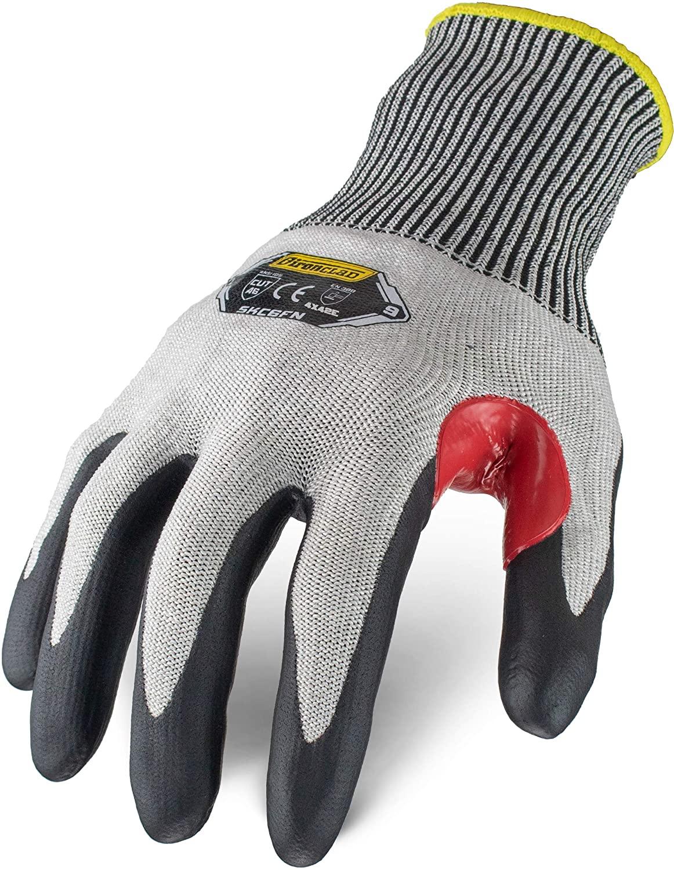 Ironclad Command Touchscreen Foam Nitrile Cut Resistant Glove; Foam Nitrile Coating, Touchscreen Infused Palm, A6 Cut Resistant, Sized XS, S, M, L, XL, XXL (1 Pair)