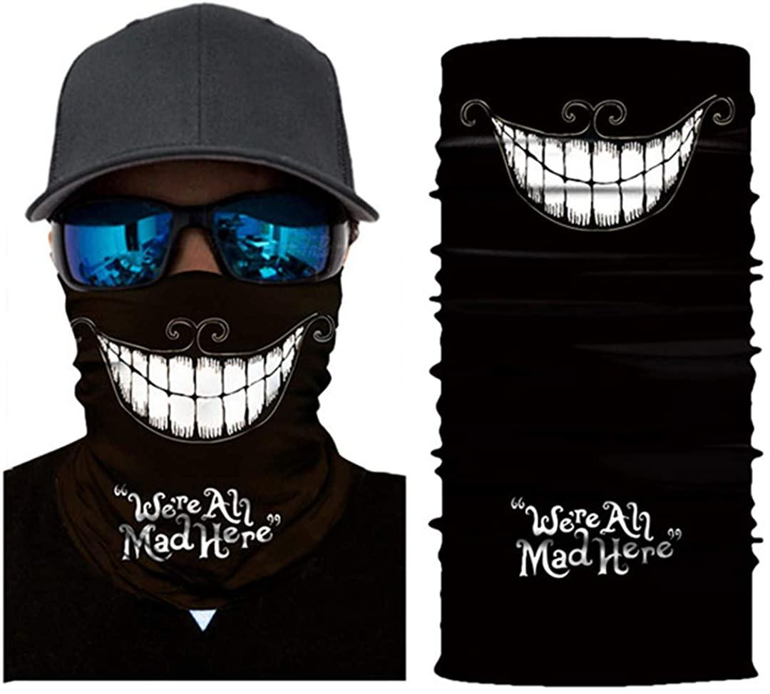 Bicycle Seamless Skull Headband Neck Warmer Cycling Face Mask 3D Bike Head Scarf Bandana
