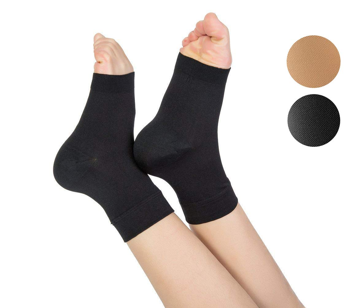 TOFLY Plantar Fasciitis Socks for Women Men, True 20-30mmHg Compression Socks for Arch & Ankle Support, Foot Care Compression Sleeves for Injury Recovery, Eases Swelling, Pain Relief, 1 Pair, Black M