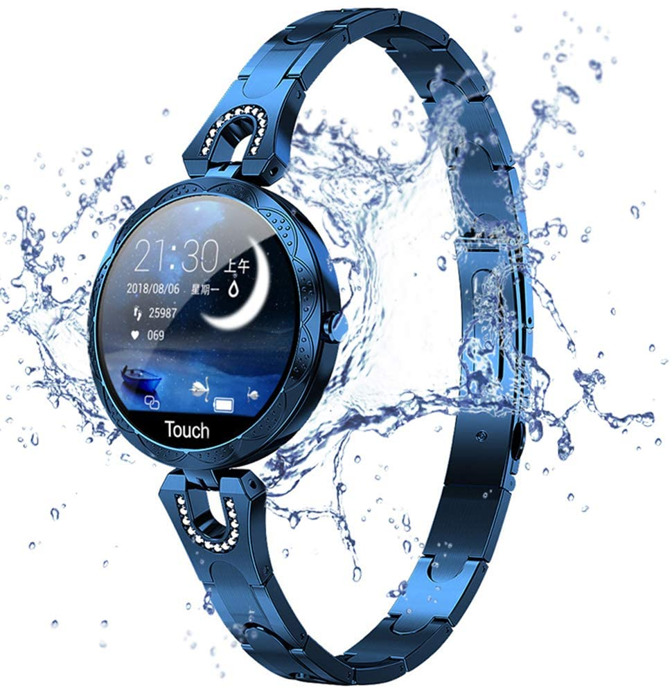 Fitness Tracker Smart Watch IP67 Waterproof, Health Tracker with Color Screen Step Counter, Calorie Consumption Pedometer, Sleep Monitoring, Multiple Sports Modes Suitable for Women