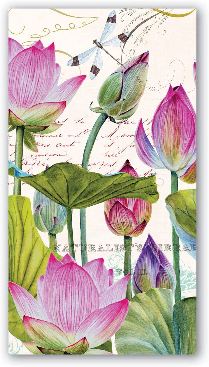 Michel Design Works 15 Count Hostess Napkins, Water Lilies