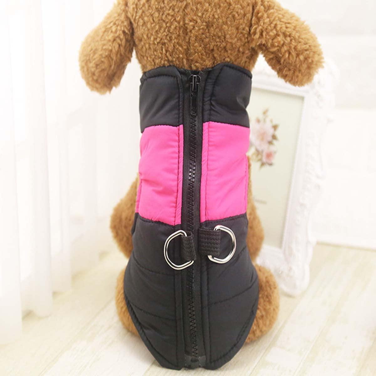 Nylon Dog Pet Cat Puppy Vest Winter Warm Jacket Coat Clothes Outdoor Soft Apparel