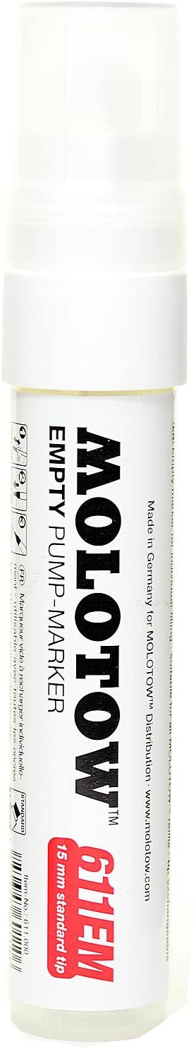 Molotow One4All Acrylic Paint Markers 15 mm Empty Marker [Pack of 6 ]