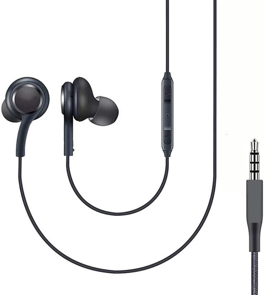 Earbud Headphones Earphones 3.5mm in-Ear Wired Headset with Microphone Volume Control Universal Fit for iPhone,Samsung,Android Phones,iPod,iPad,MP3,MP4,Computer,Laptop,Tablet and All 3.5mm Port