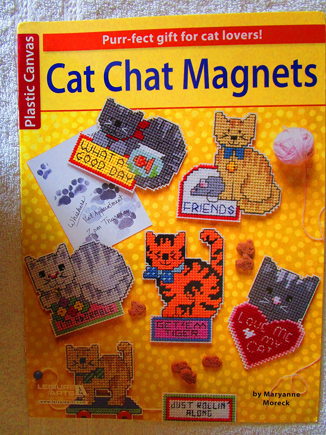 Brand New Leisure Arts-Cat Chat Magnets Brand New