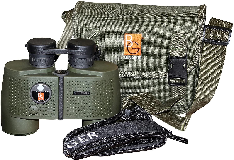 Binger 7x50 Marine Binoculars with Range Finder and Illuminated Compass BAK 4 Prism Fully Coated Multi-Coated