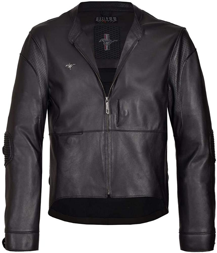 Mustang Jacket Black Genuine Leather Ford Original Special Driver