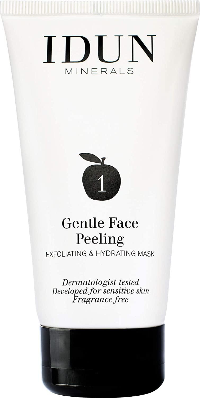 IDUN Minerals Gentle Face Peel - Exfoliating Hydrating Mask - Remove Dead Skin Cells w/Malic Acid - Chemical Enzymatic Peel w/AHA - 100% Vegan, w/Shea & Cocoa Butter, Dermatologist Tested - 2.53 oz