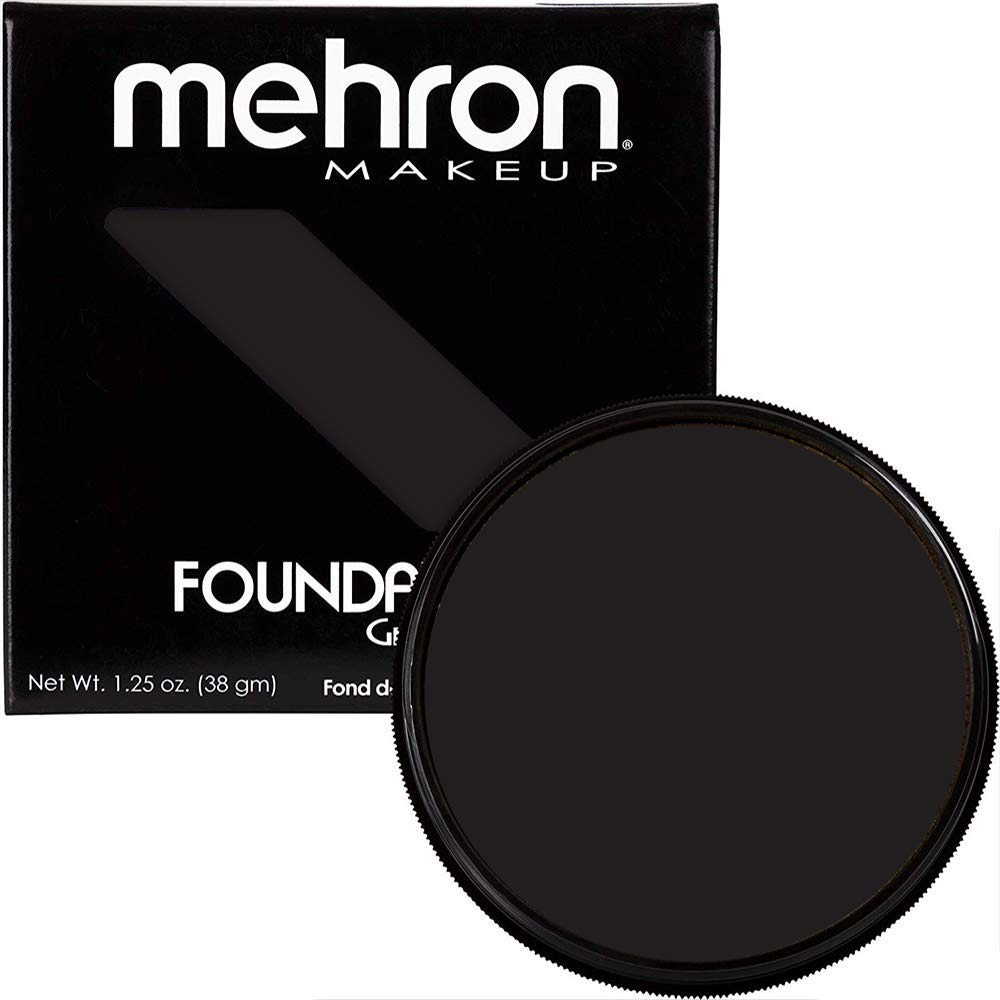 Mehron Makeup Foundation Greasepaint (1.25 oz) (BLACK)