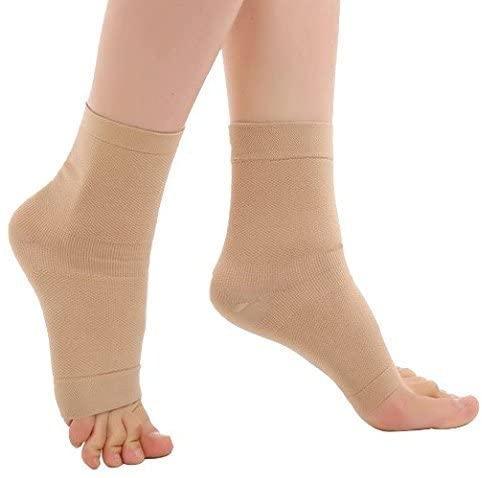 Zcargel Ankle Support Open-Toe Compression Socks (20-30mmHG) for Men Women