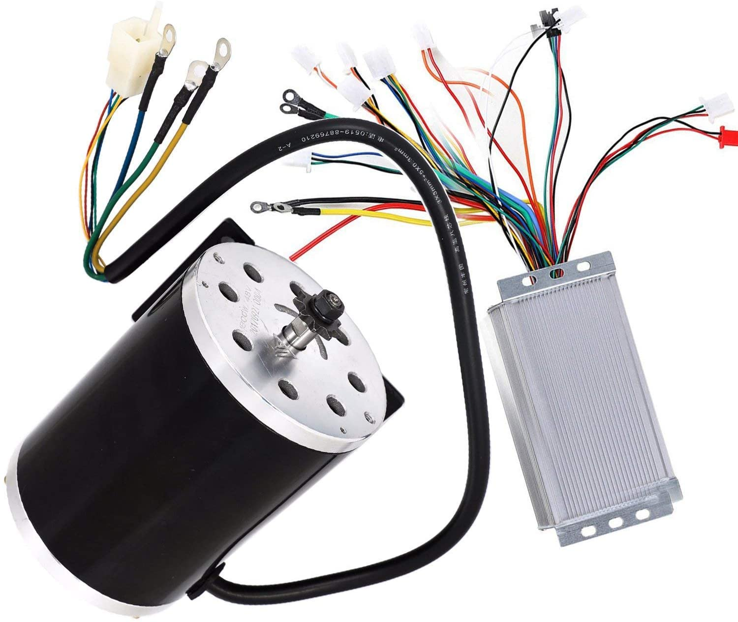 TDPRO 48V 1800W Brushless Electric Motor and Controller Set For Go Kart Scooter E Bike Motorized Bicycle ATV Moped Mini Bikes