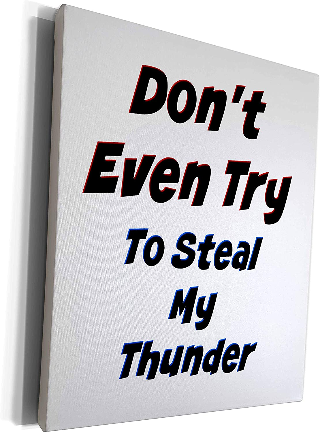 3dRose Carrie Merchant 3drose Image - Image Of Dont Even Try To Steal My Thunder - Museum Grade Canvas Wrap (cw_316700_1)