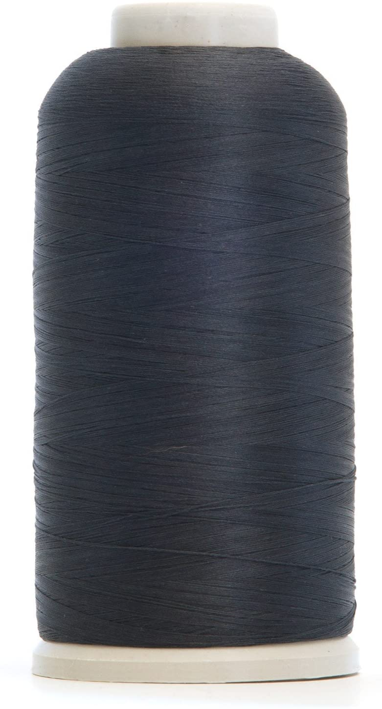 Wooly Nylon Elastic Stretchy Threads - 5,000 Meter per Cone (Charcoal)