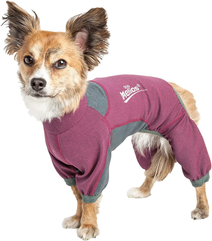 Dog Helios 'Rufflex' Mediumweight 4-Way-Stretch Breathable Full Bodied Performance Dog Warmup Track Suit