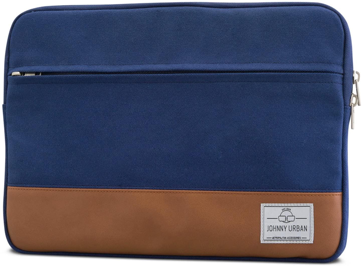 Laptop Sleeve 14 Inch Blue - Johnny Urban Canvas Notebook Case MacBook Bag