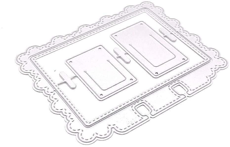 KSCRAFT Cloud Border Memorydex Frame Metal Cutting Dies Stencils for DIY Scrapbooking Decorative Embossing DIY Paper Cards