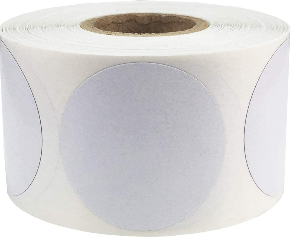 Opaque Cover Up Labels 1.5 Inch 500 Stickers on a Roll