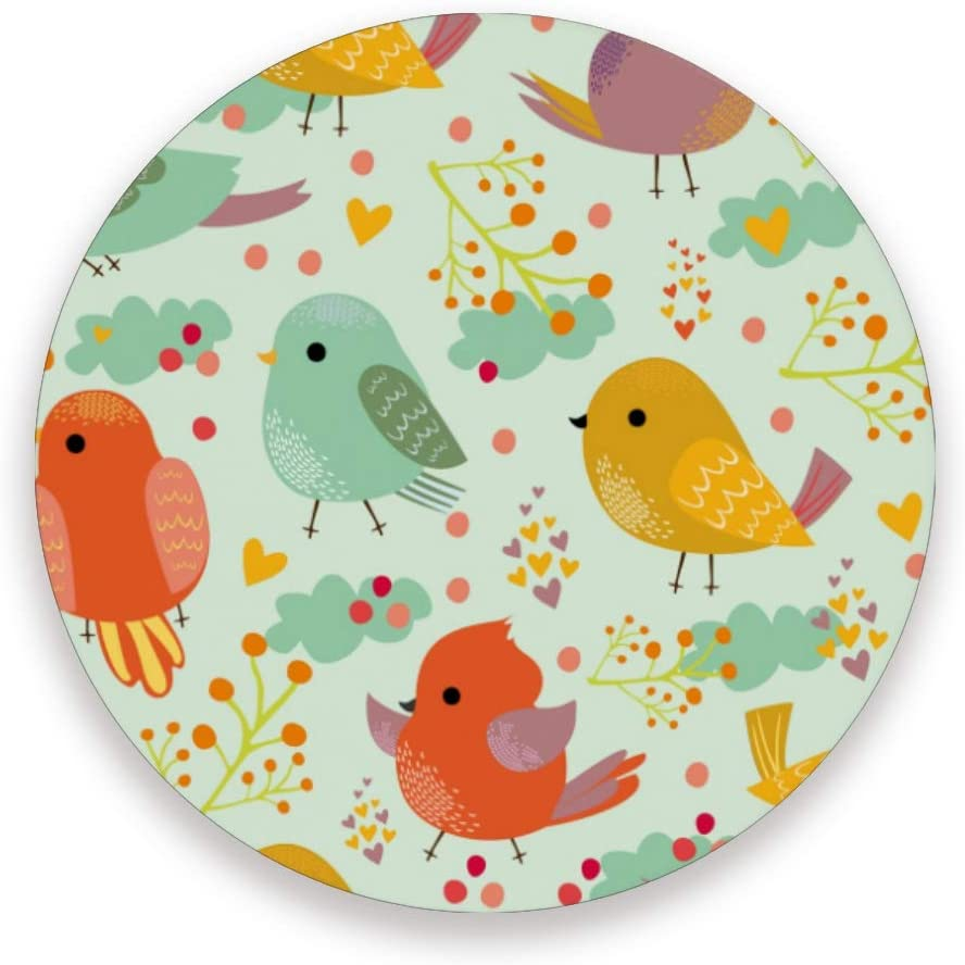 Cute Bird Round Coaster Set Table Coasters