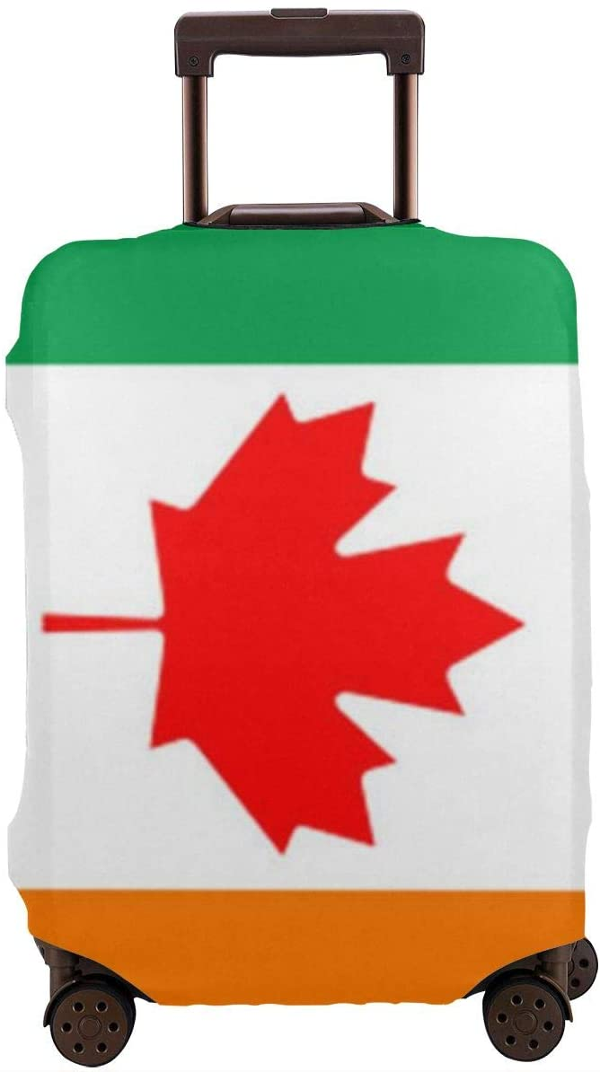 Travel Luggage Cover Canada and Italy Flags Anti-Scratch Baggage Suitcase Protector Cover Fits 18-32 Inch