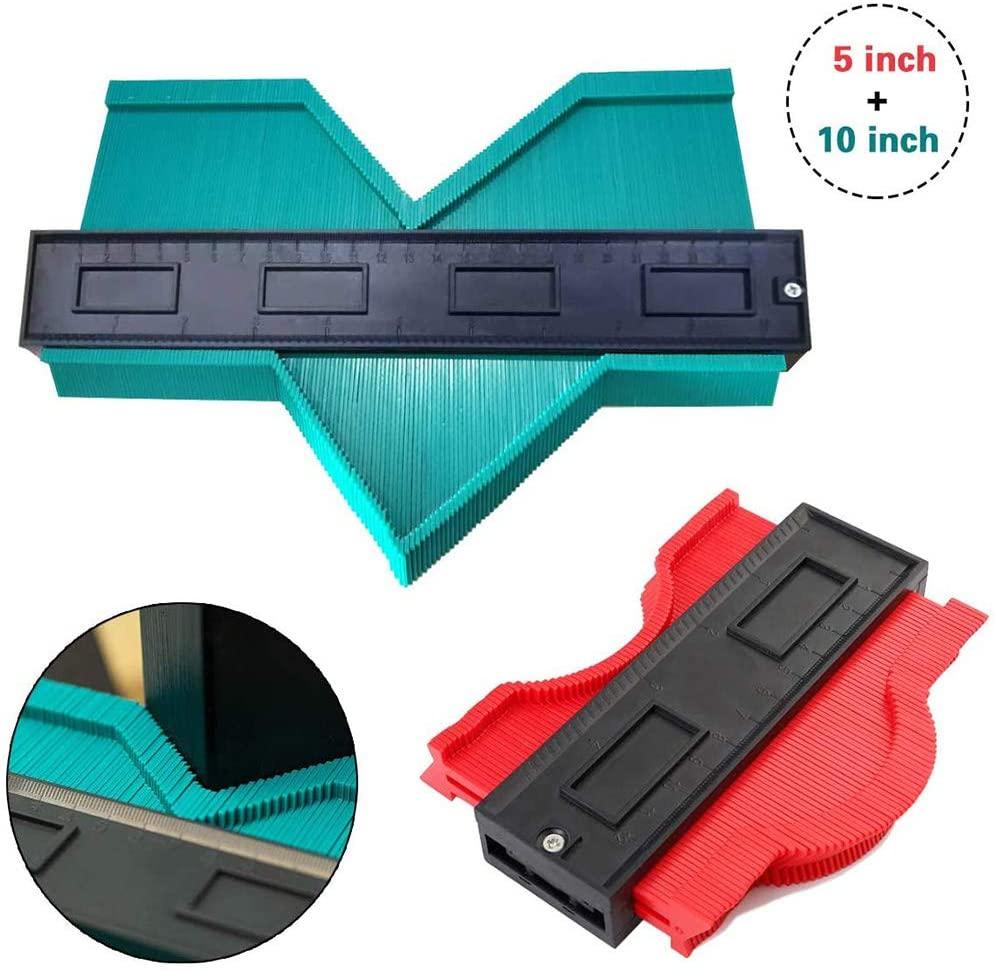 Shape Contour Gauge Duplicator Tool, Wider Ezgauge Master Outline Gauge, 1 Pack Universal Socket, 5 inch and 10 inch Instant Template, Gift Tools for Men Dad
