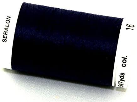 Mettler Seralon Polyester General Sewing Thread 500m 500m 16 Dark Indigo - each