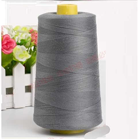 7500 Yards Gray Grey Reel 20s 3 203 Tex 90 Tickets Size 30 Spools Polyester PP SP Sewing Thread Hand Machine Industrial Embroidery Yarn Quilting Serger Clothes Jeans Canvas Oxford Cloth Leather