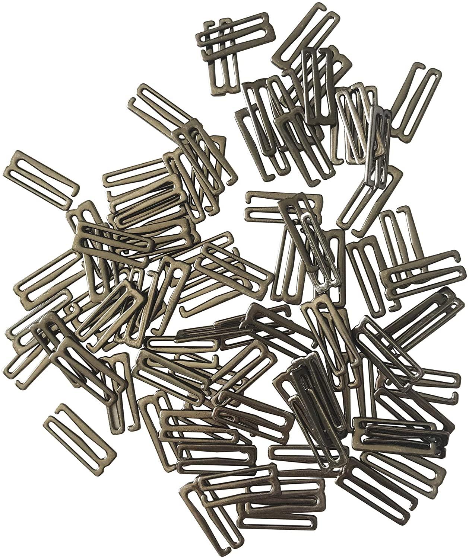 100pcs Metal Hardware Lingerie Adjustment Bikini S Replacement Hooks Clasp Figure 9 Hoops for Bra Strap Apparel Holder Findings (20mm) Q2544