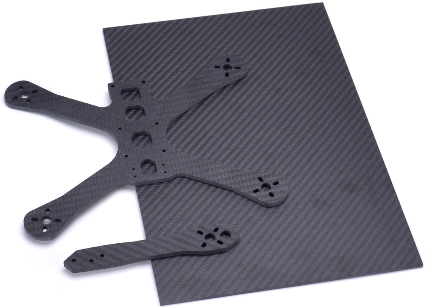 Readytosky 3K Carbon Fiber Plate Sheet 200mm X 300mm X 3MM Thickness Pure Carbon Fiber Board for DIY Drone Frame Etc.