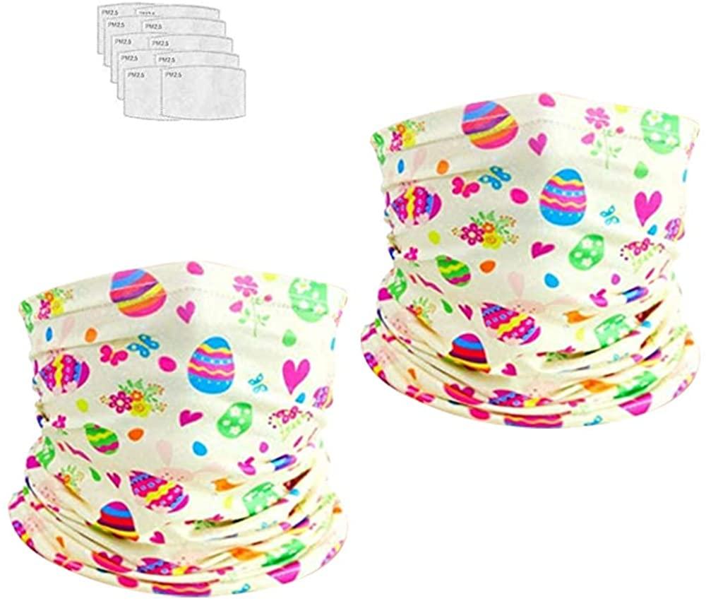 DECOMEN Kids Youth Neck Gaiter Fishing Sun Mask - Junior UV Protection Face Tube Mask-2PCS